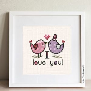 My Valentine's day small and simple cross-stitch patterns for beginners.
