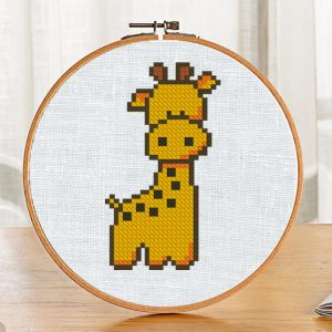 """The cross-stitch pdf and xsd pattern """"Giraffe"""" in modern style for Baby"""