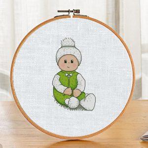 """Baby Winter"" Cross Stitch Printable PDF Pattern on Etsy Buy"