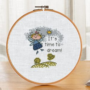 """The cross-stitch PDF and XSD pattern """"It's time to dream"""""""
