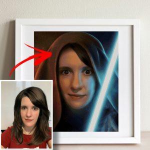 "Custom cross stitch pattern from photo personalized ""Star Wars Portrait"" pdf, xsd, dmc, modern, Hand embroidery designs,"