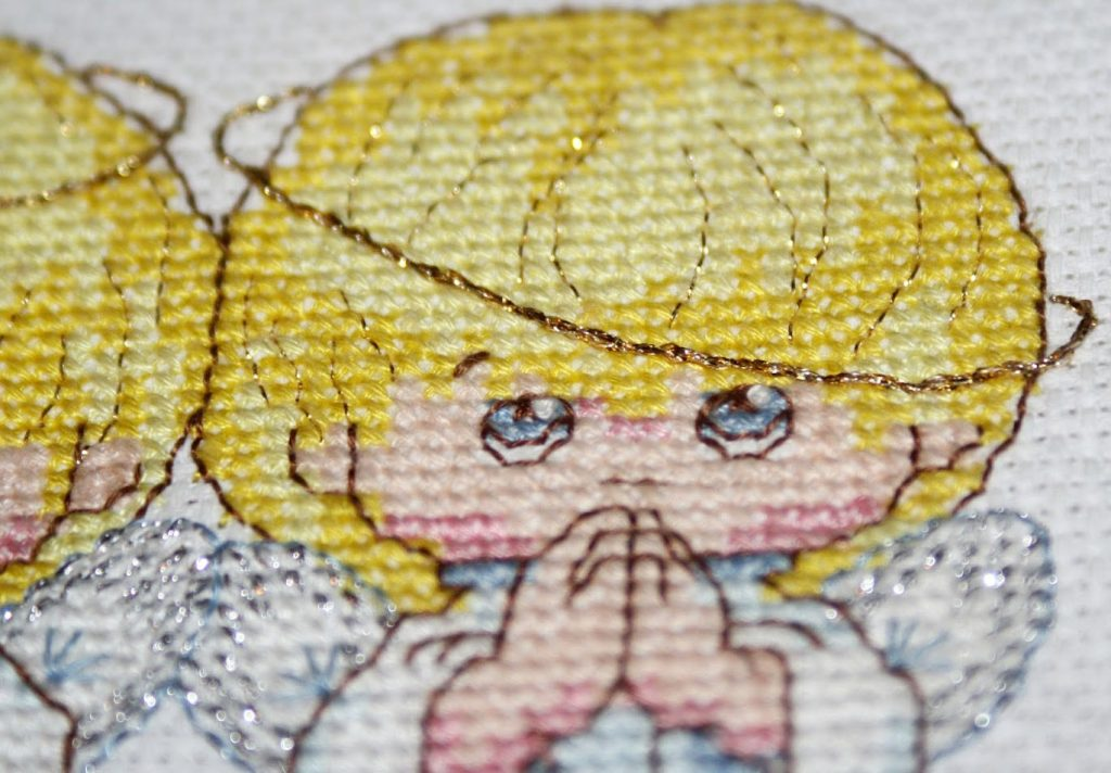 How to use lurex in your cross stitch? Useful tips.