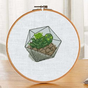"Small Cross Stitch Printable Pattern ""Florarium Cactus"" Etsy"