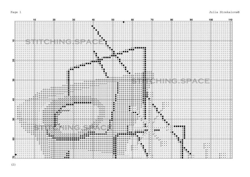 """""""Avocado modern"""". New free cross stitch pattern"""