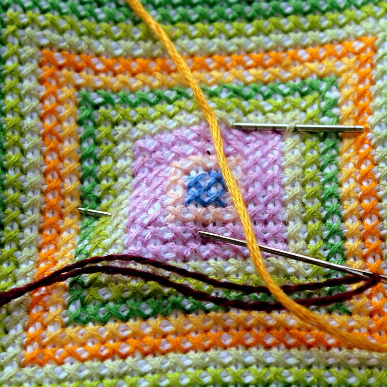 4 ways how to fix a thread in cross stitch