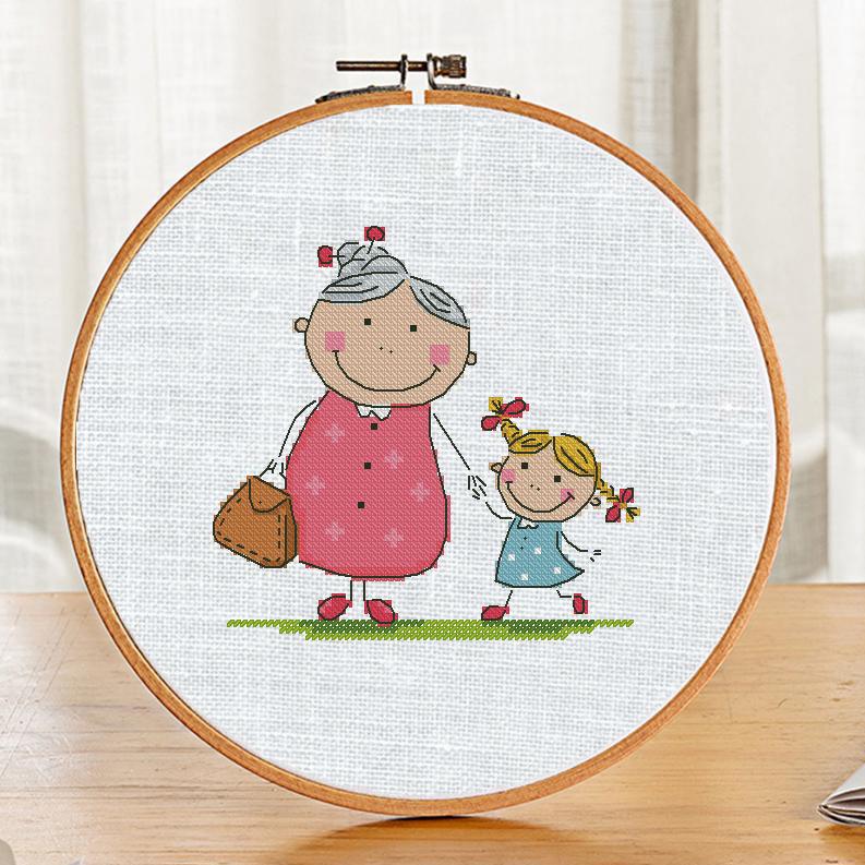 """""""Grandma"""". New free cross stitch pattern."""
