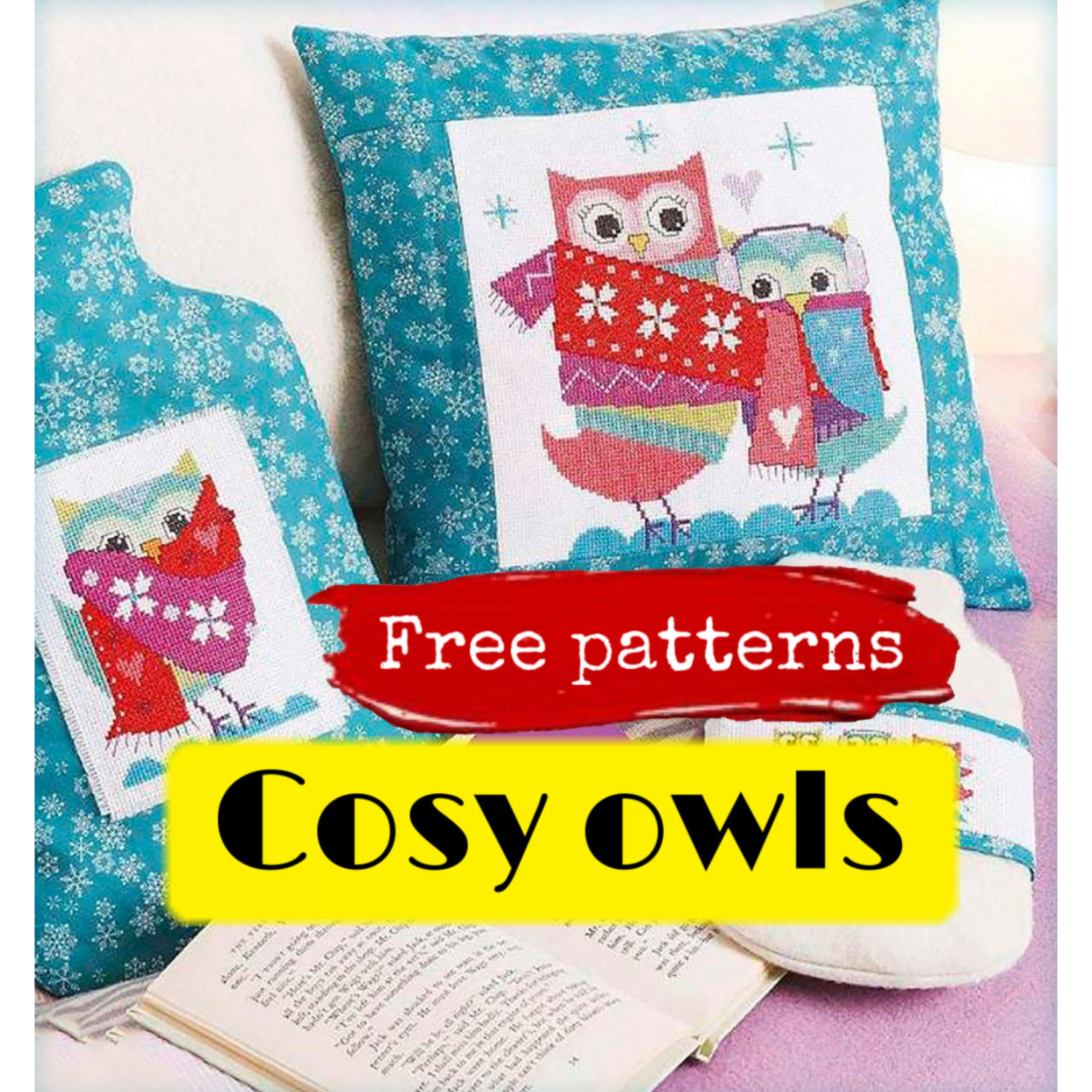 Free cross stitch patterns with cosy owls