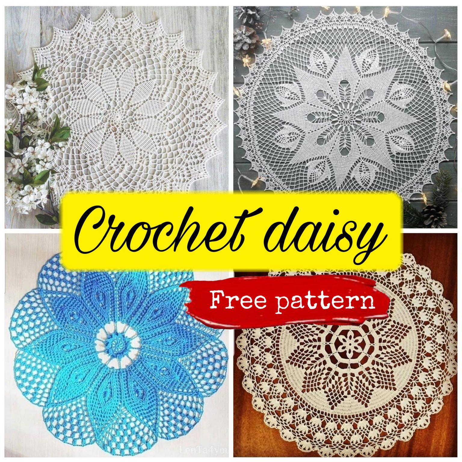 4 Free Crochet Patterns For Daisy Napkins