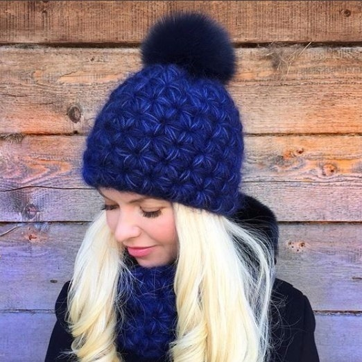 Free Crochet Pattern for a Hat and Scarf. Winter Set.