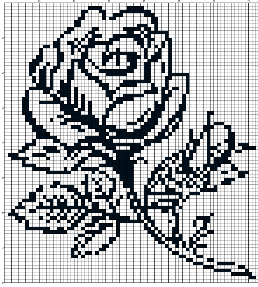 Small free cross stitch patterns with roses for beginners