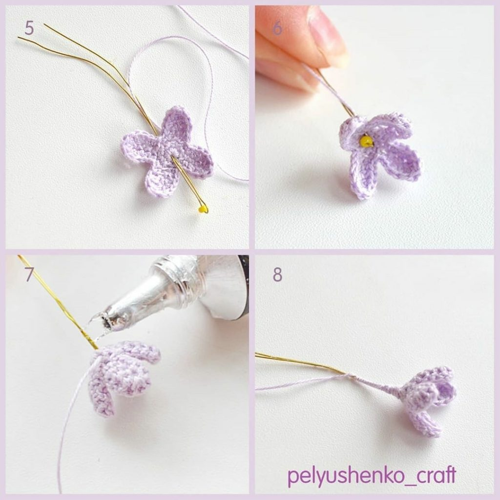 Free pattern of the crocheted awesome lilac