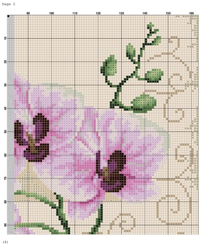 Free Cross Stitch Pattern with Orchid. Medium, PDF, Anchor