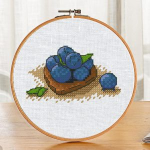 Cross Stitch Pattern Printable Blueberries PDF on Etsy
