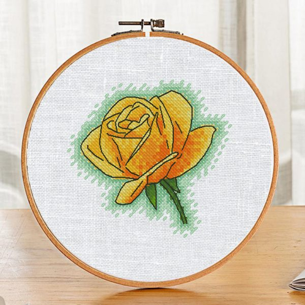 Cross Stitch Printable Pattern PDF with Rose Flowers Small