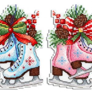 """Figure skates"" Winter Christmas Cross Stitch Kit New Year"