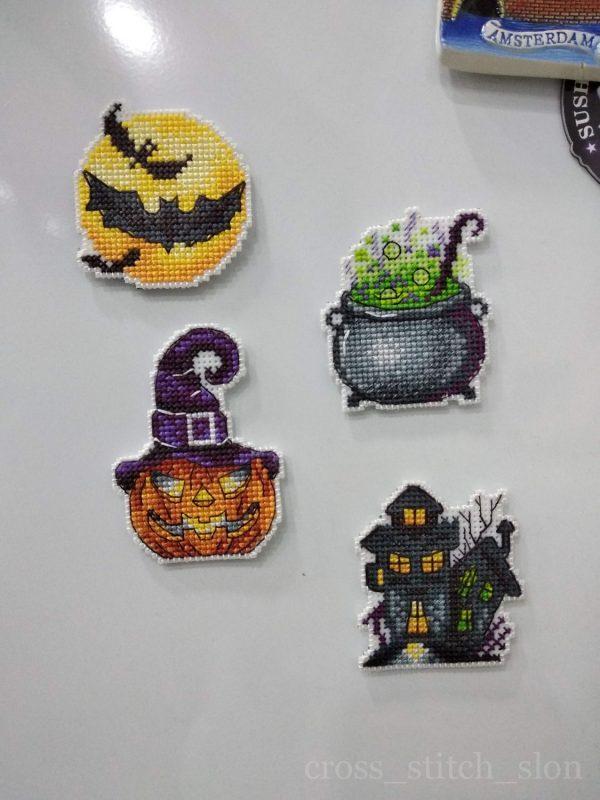 """Halloween Horror stories. Magnets"" Small Cross Stitch Kit"
