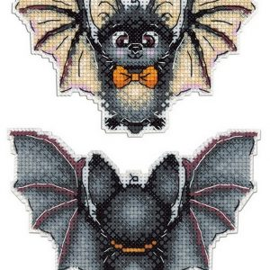 """Halloween Bat"" Small Cross Stitch Kit with Animals"