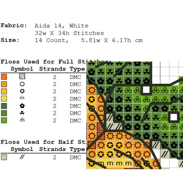"""""""Carrot"""" Small Easy Cross Stitch Pattern Printable Vegetables"""
