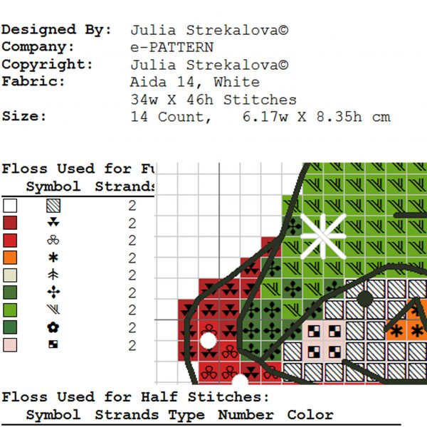Christmas New Year Small Cross Stitch Pattern with Snowman