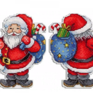 """Jolly Santa"" Christmas Cross Stitch Kit New Year"