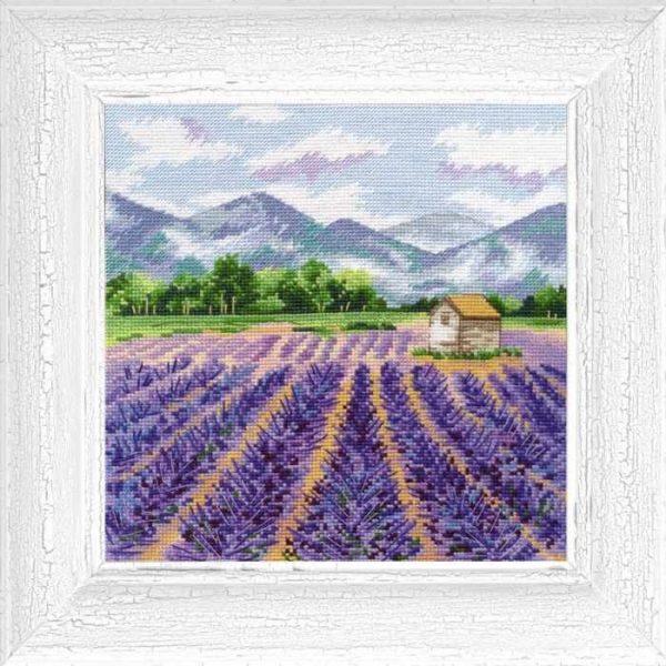 """""""Provence"""" Cross Stitch Starter Kit Landscape Nature Lavender"""