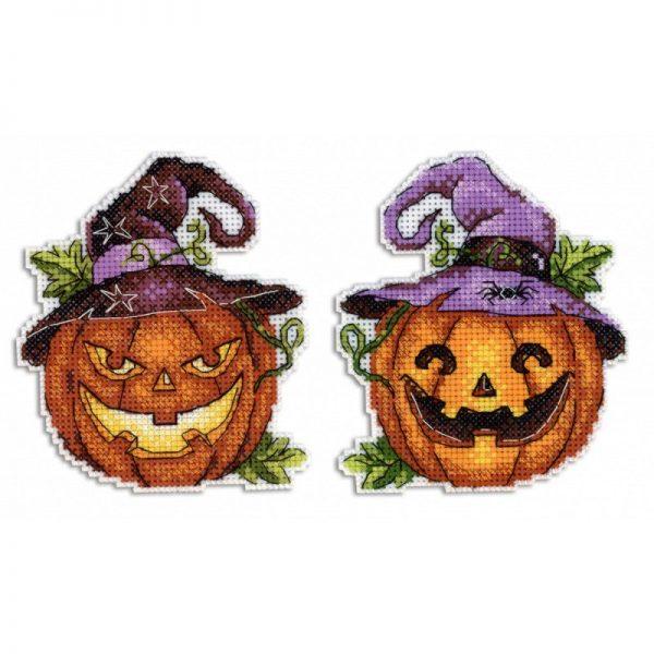 """Halloween Pumpkin"" Small Easy Cross Stitch Kit for Beginners"