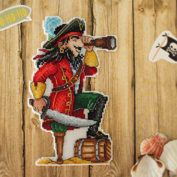 """""""Pirates. Magnets"""" Small Cross Stitch Kit Sea for Beginners"""