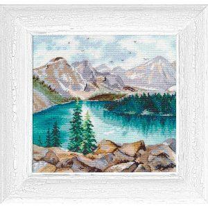 """Moraine Lake"" - Cross Stitch Starter Kit Nature Landscape"