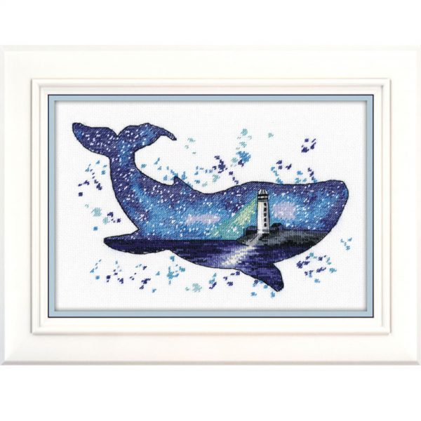 """""""Animal world. Whale"""" Cross Stitch Starter Kit by Oven"""