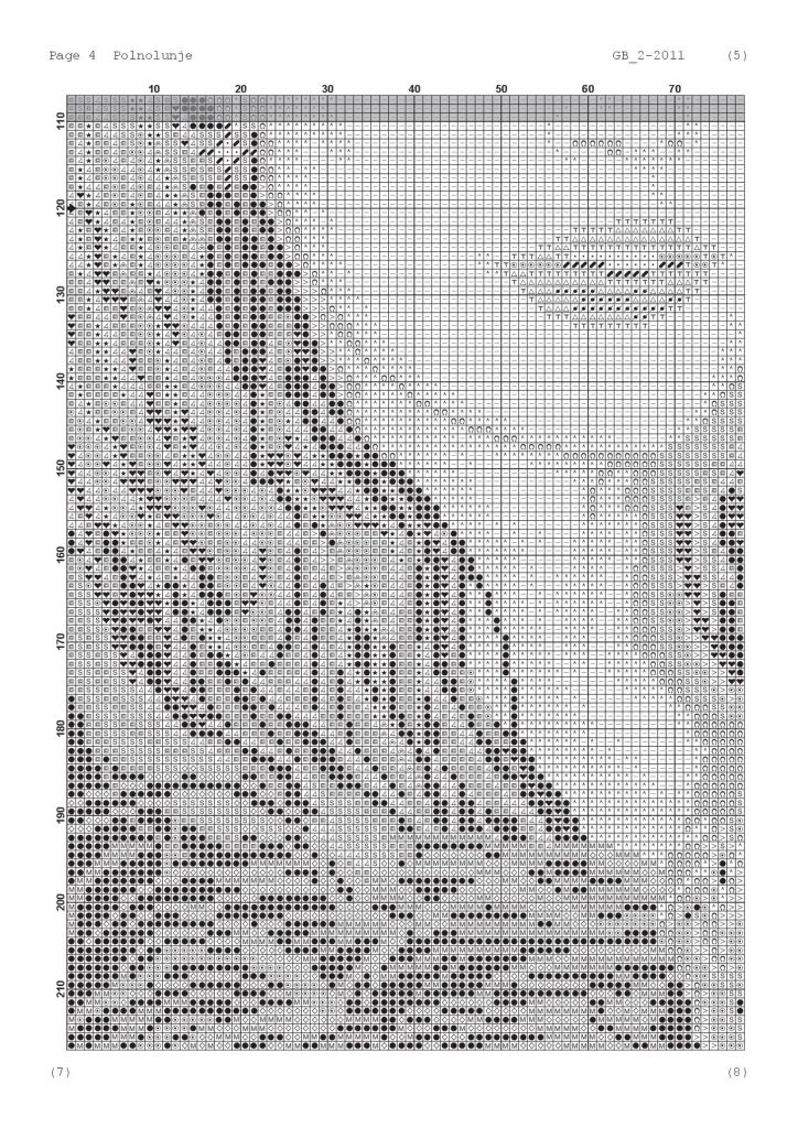 """Free Large Printable Cross Stitch Pattern """"Girl with Horse"""""""