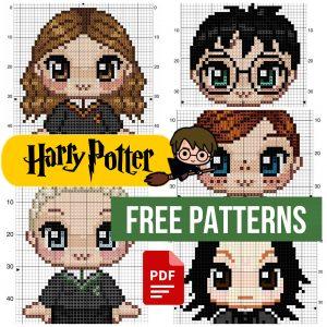 Harry Potter. 16 Free Small Cross Stitch Patterns PDF