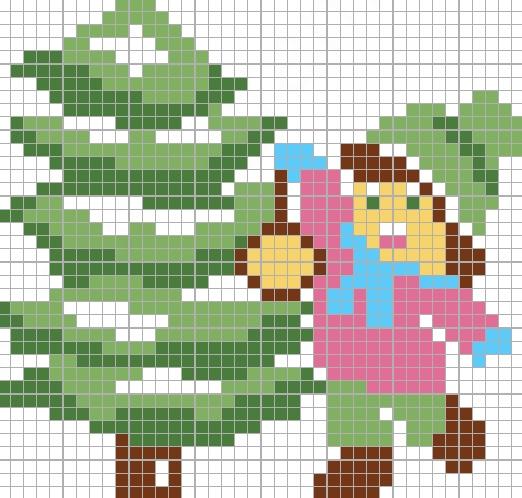 Christmas Tree Mega Cross Stitch Set. Free Small Patterns