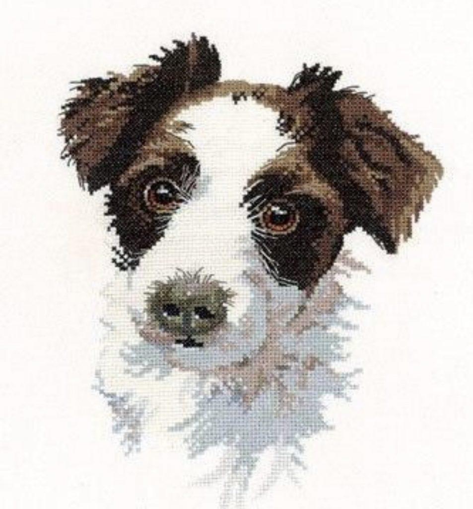 """Dog Portrait"" - Free Cross Stitch PDF Pattern Printable"
