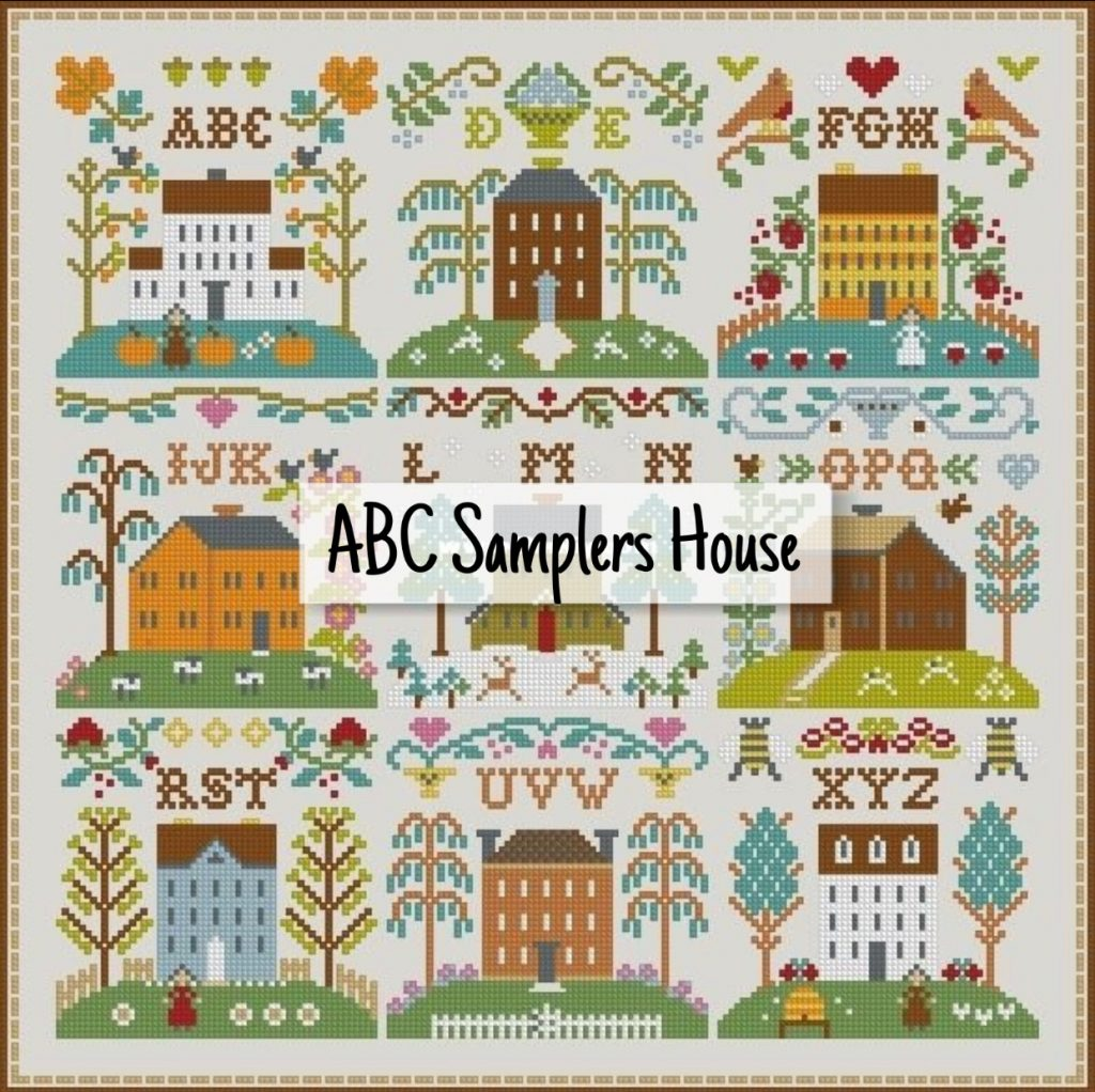 """ABC Samplers House"" - Free Cross Stitch Pattern Primitive"