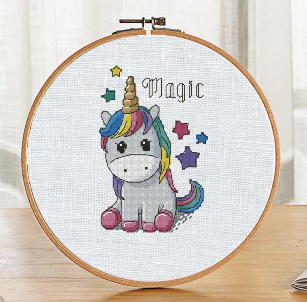 """""""Magic Unicorn"""" - Free Cross Stitch Pattern for Baby"""