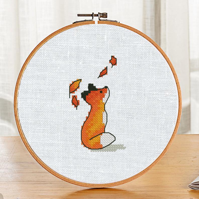 """""""Autumn Fox"""" - Free Cross Stitch Pattern Animals Fall PDF"""