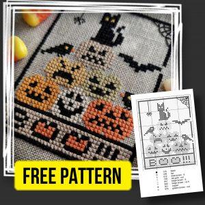 """Halloween 2021"" - Free Small Easy Cross Stitch Pattern"