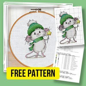 """""""New Year Wizard"""" - Free Christmas Cross Stitch Pattern"""